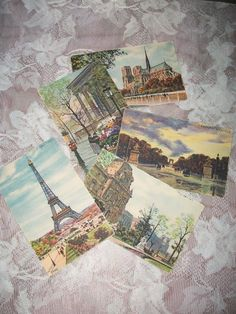 Vintage postcards from Paris France.  Yvon ~ he was the master artist behind these images which are almost 100 years old and in fabulous condition.  The Eiffel Tower is especially exquisite.