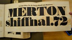 This is a large fold-out of a very fat fat face from the 1825 Fann Street Foundry type specimen book.