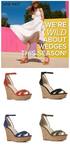 We're totally crushing on wedges this season and if you're searching for a pair (or two) of your own, look no further than Nine West. Slay summer with their selection of this season's simple, elegant must-haves. Just pair them with a lightweight sundress and a fitted denim jacket and you're good to go. Visit NineWest.com today and prepare to fall in love.