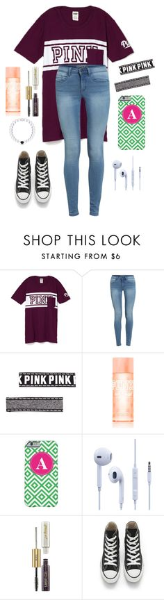 """Today was my last day of school! Now I won't be going back until August!"" by one-of-those-nights ❤ liked on Polyvore featuring Victoria's Secret PINK, tarte and Converse"