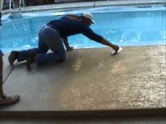 Beautiful Pool Deck Resurfaced Concrete Made With #NewLook Concrete Stain  In Caramel And Oak. | Concrete Pools And Decks | Pinterest | Beautiful Pools,  ...
