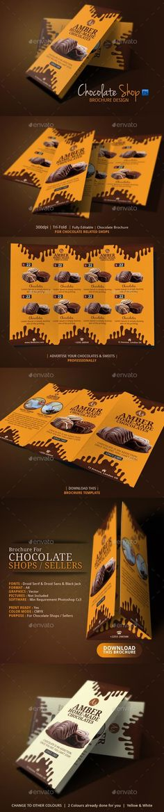 Chocolate Brochure Design  — PSD Template #advertise your business #psd • Download ➝ https://graphicriver.net/item/chocolate-brochure-design/18183365?ref=pxcr