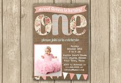 Hey, I found this really awesome Etsy listing at https://www.etsy.com/listing/176669774/1st-first-birthday-invite-photo-invite