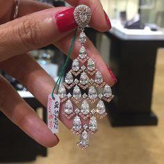 Diamond earrings #Bjc #Rcm #Jewelleryarabia2015