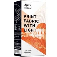 DIY pakket Inkodye 'Printen op textiel met zonlicht - oranje'