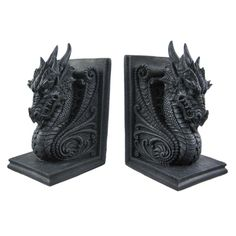 My books are lonely without their dragon bookends to keep them company.