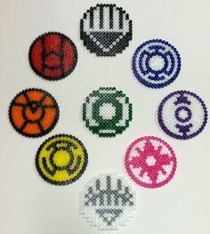 Green Lantern Corps Hama Bead Handcrafted Coasters £8.00