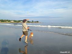 Ball play at Gooches Beach, Kennebunkport