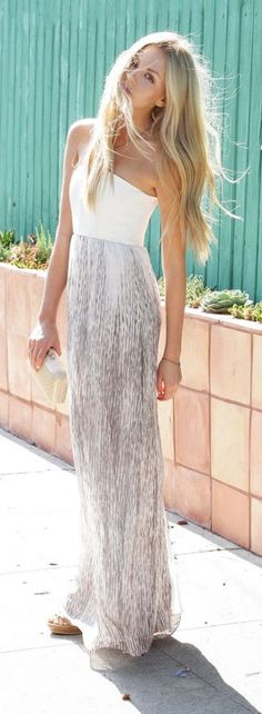 #summer #fashion / maxi skirt