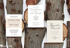 Free Wedding Invitations Template - Winter Themed Wedding #wedding #invitations…