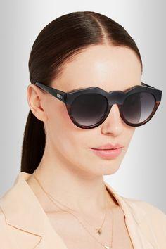 Le Specs | Neo Noir round-frame acetate sunglasses | NET-A-PORTER.COM
