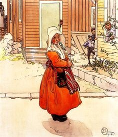 Carl Larsson Brita in Sundborn Dress Orenco Originals Counted Cross Stitch Chart Carl Larsson, Scandinavian Art, Scandinavian Christmas, Illustrations, Illustration Art, Carl Spitzweg, Stockholm, Large Painting, Museum Of Fine Arts