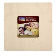 "6-Pack ArtMinds™ Unfinished Wood Frame, 3.7"" x 3.7"""