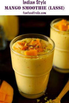Mango Lassi is a low-fat creamy, Indian style mango smoothie. Learn how to make Indian mango lassi in a few simple steps. Smoothie Prep, Raspberry Smoothie, Apple Smoothies, Smoothie Recipes, Drink Recipes, Mango Lassi Recipes, Turmeric Lemonade, Healthy Indian Recipes, Recipe For Teens