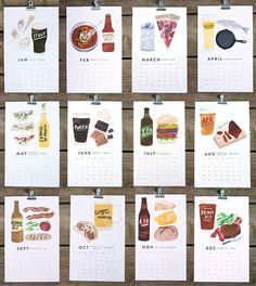 Beer & Food 2013 Calendar - mmmbeerandfooood!
