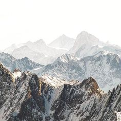 Mountain layers in Chamonix by @m4rk0 #frenchfolks
