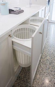 Modern Laundry Rooms, Laundry Room Layouts, Laundry Room Remodel, Laundry Closet, Laundry Room Organization, Laundry In Bathroom, Hidden Laundry, Small Laundry, Laundry Area