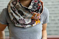 DIY..Infininty Cowl- This Is Great with Tee &  Jeans!