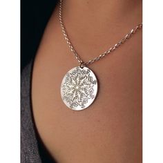 This Mandala Name Necklace makes for a unique and thoughtful gift for all the moms out there. The Namedala™ necklace is made of sterling silver and can be engraved with up to five kids' names. Order a customized mandala necklace for the special mom in your life today.