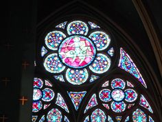 stained glasses in Nortre Dame, Paris