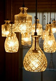 DIY glass lamps