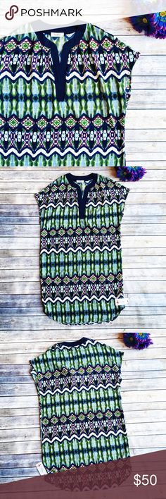 Adrienne Sweet Patterned Tunic Dress  ★ NWT, in perfect condition.  ★ This Adrienne boutique brand dress is TOO CUTE! Perfect for summer, festival, and even wedding season! Belt it or wear it loose.  ★ 100% Polyester. ★ NO TRADES!   ★ NO MODELING!  ★ YES REASONABLE OFFERS! ✅ ★ Measurements available by request and as soon as possible.  Adrienne Dresses