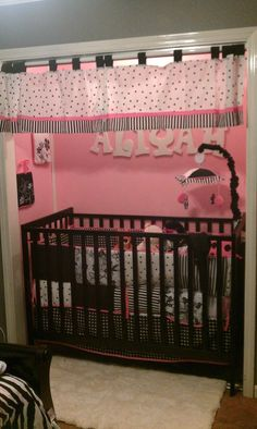 crib in the closet-shared master bedroom/nursery Baby Nursery Closet, Baby Bedroom, Girl Nursery, Crib In Closet, Baby Rooms, Closet Redo, Reborn Nursery, Girl Room, Master Bedroom