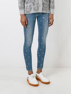 Stella Mccartney Jeans Pitillo Tobilleros De Lunares Brillantes - A.m.r. - Farfetch.com