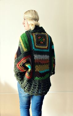 Love this one too. There is so much to see on Etsy. Afghan Crochet CardiganGreen by LoveandKnit on Etsy, $125.00