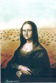 Mona Lisa triste por deforestación
