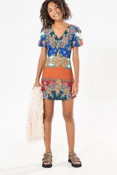 vestido curto ruivan | FARM