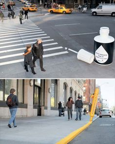 FedEx Kinkos Advertisement. I think this is unique because they took something that is seen everyday, a crosswalk and made it relate to there product. They can draw in on a large target, anyone who needs office supplies, and grab there attention in something that is normally not exciting.