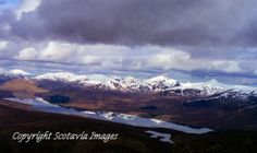 Loch Fannich.Aerial photograph Scotland.Prints 18x12 £25 24x16 £35 same size on canvas ready to hang £60. Order via website www.scotaviaimage...
