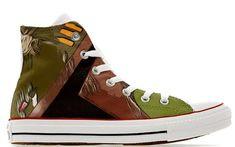 42d50b5ffa98 Bounty hunter Wars in the Fett Themed custom printed star Boba converse  shoes