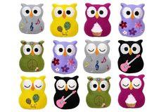Eulen ITH Stickmuster (verschiedene Motive zur Auswahl) für eine Stickmaschine. Owl ith embroidery for embroidery machines. From Stickdesign Kerstin Bremer