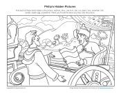 Bible Story Hidden Pictures Activity for Kids