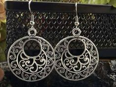 Oorhangers Tibetaans Zilver