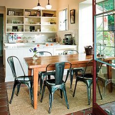 kitchen with tolix chairs