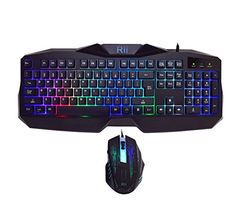 Rii RM400 LED Gaming Keyboard  Mouse Combo Bundle 7 Color Backlit rm400 >>> Click image to review more details. (Note:Amazon affiliate link)