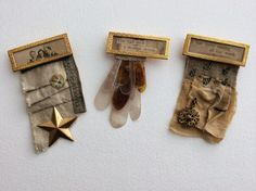 mixed media brooches by paperiaarre