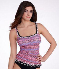 Profile by Gottex Rio Wire-Free Tankini Top Swimwear E655-1B33 at BareNecessities.com