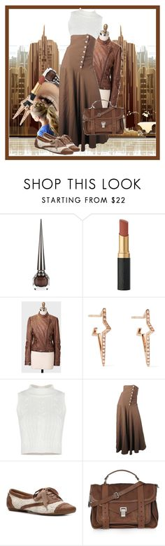 """""""Townie"""" by gabi-girl ❤ liked on Polyvore featuring Christian Louboutin, Diane Kordas, Jean-Paul Gaultier, Not Rated and Proenza Schouler"""