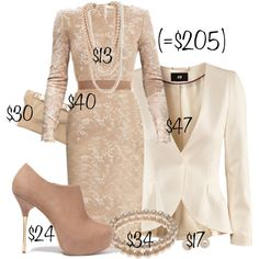 """Pearls & lace"" by troff on Polyvore"