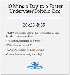 10 Minutes a Day to a Faster Underwater Dolphin Kick - SHS Varsity Swim Team - Swimming Drills, Competitive Swimming, Swimming Tips, Swimming Workouts, Water Workouts, Bike Workouts, Swimmer Memes, Swimming Motivation, Swimmer Problems