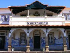 Jorge Colaço | Estação Ferroviária de / Railway Station of Marvão-Beirã | 1929 #Azulejo #JorgeColaço