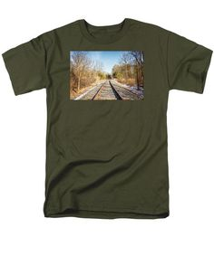Men's T-Shirt  (Regular Fit) featuring the photograph Railway Through Snyder County by Joshua Zaring