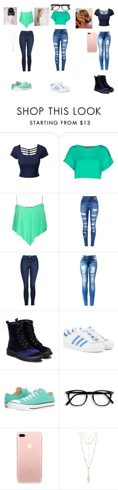 """""""bff"""" by maryharvey122 on Polyvore featuring LE3NO, Boohoo, Pilot, WithChic, Topshop, adidas Originals, Converse and House of Harlow 1960"""