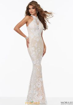 Mori Lee Lace Fitted Dress 99009