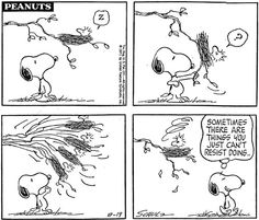 Snoopy and Woodstock comic