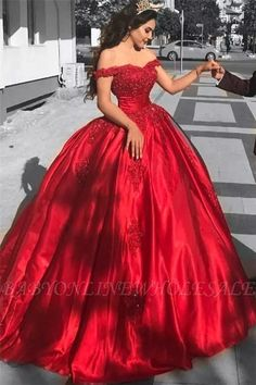 Elegant Arabic Red Prom Dress,Ball Gown Prom Dresses ,Long Off The Shoulder Prom Dress,Lace Appliques Beaded Puffy Evening Dress,Party Gowns Quinceanera Dress Ball Gowns Evening, Lace Ball Gowns, Ball Gowns Prom, Ball Gown Dresses, Dresses Uk, Evening Dresses, Satin Dresses, Long Dresses, Fashion Dresses